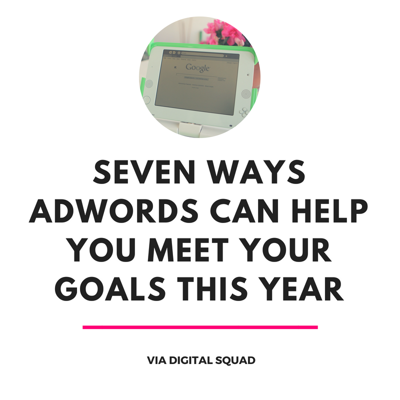 SEVEN WAYS ADWORDS CAN HELP YOU MEET YOUR GOALS THIS YEAR