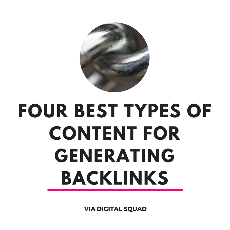 FOUR BEST TYPES OF CONTENT FOR GENERATING BACKLINKS