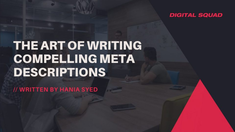 art of writing compelling meta descriptions