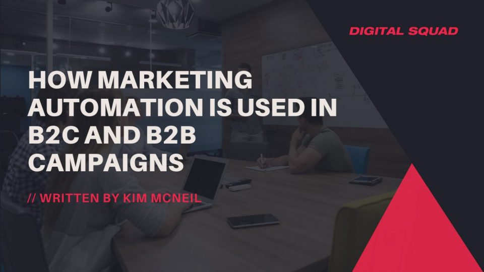 marketing automation in B2B and B2C